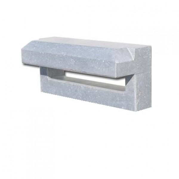 Brievenbusplaat hardsteen inbouw horizontaal small