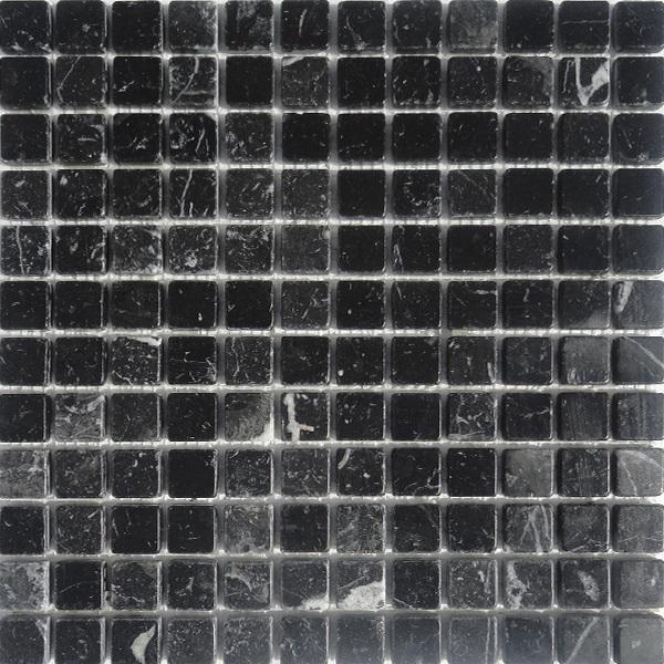 Nero Marquina mozaiek matjes